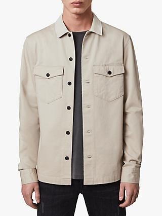 AllSaints Lancer Military Overshirt, Fossil Taupe
