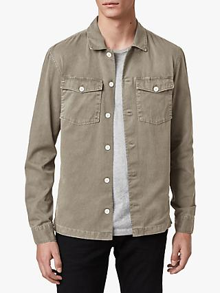 AllSaints Spotter Military Shirt, Sage Green