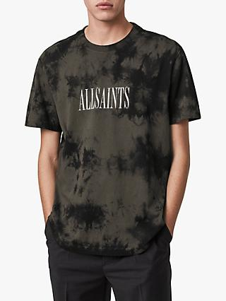 AllSaints Tie-Dye Stamp Graphic T-Shirt, Washed Black