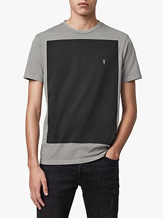 AllSaints Lobke Fade Crew T-Shirt, Washed Grey