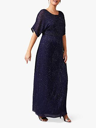 Studio 8 Donnatella Embellished Maxi Dress, Navy