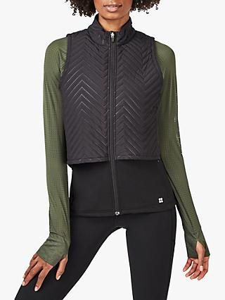 Sweaty Betty Padded Running Gilet, Black