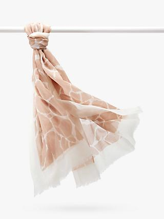Pure Collection Cashmere Scarf, Neutral Giraffe