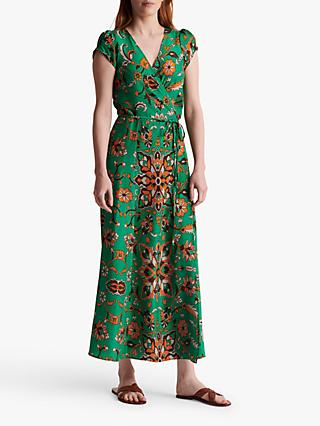 Gerard Darel Sanjay Silk Wrap Dress, Green