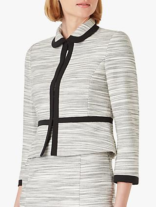 Hobbs Amira Flecked Tweed Jacket, Neutral/Black