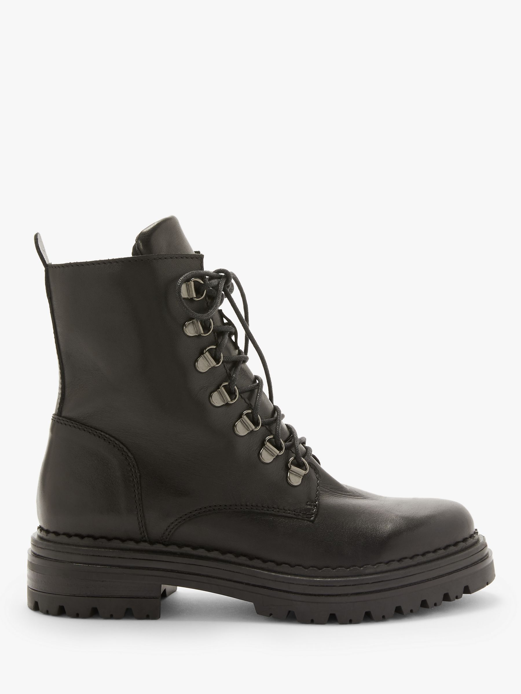 AND/OR Rudi Leather Lace Up Hiking Boots, Black