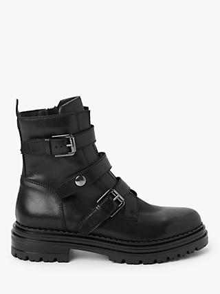 AND/OR Quinn Leather Biker Boots, Black
