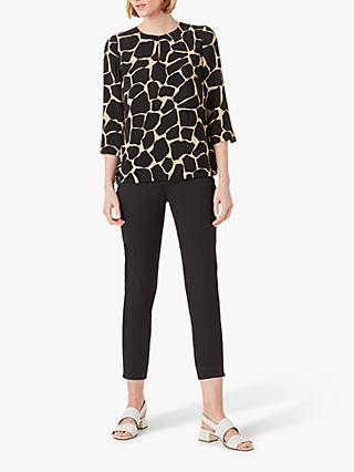 Hobbs Alex Blouse, Black/Neutral