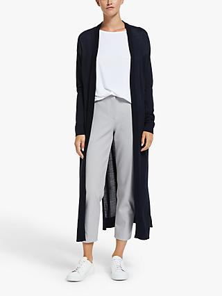 Modern Rarity Fine Merino Long Cardigan, Navy