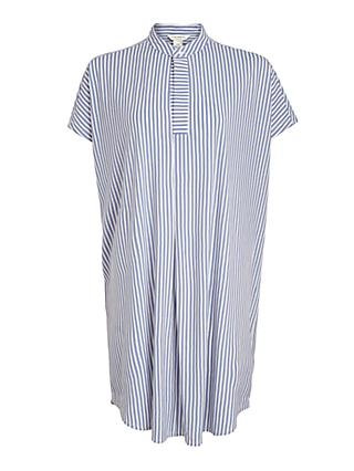 Club Monaco Striped Short Sleeve Shirt Dress, Multi