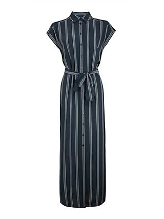 Club Monaco Danielle Striped Silk Maxi Shirt Dress, Multi