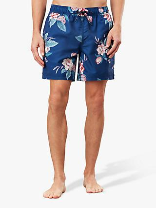 Joules Heston Recycled Floral Swim Shorts, Navy