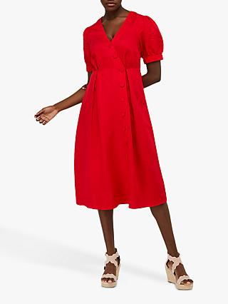 Monsoon Terra Tea Dress, Red