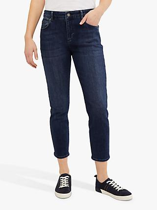 White Stuff Straight Cropped Jeans, Mid Denim