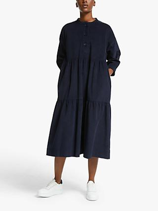 Kin Needlecord Dress, Navy