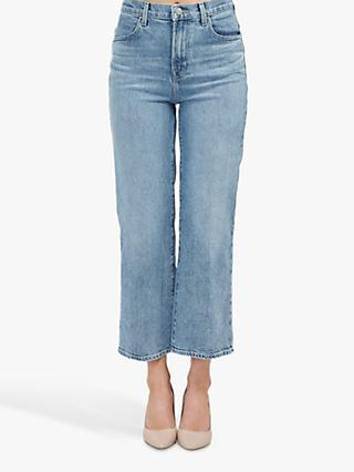 J Brand Joan High Rise Cropped Wide Leg Jeans, Chadron