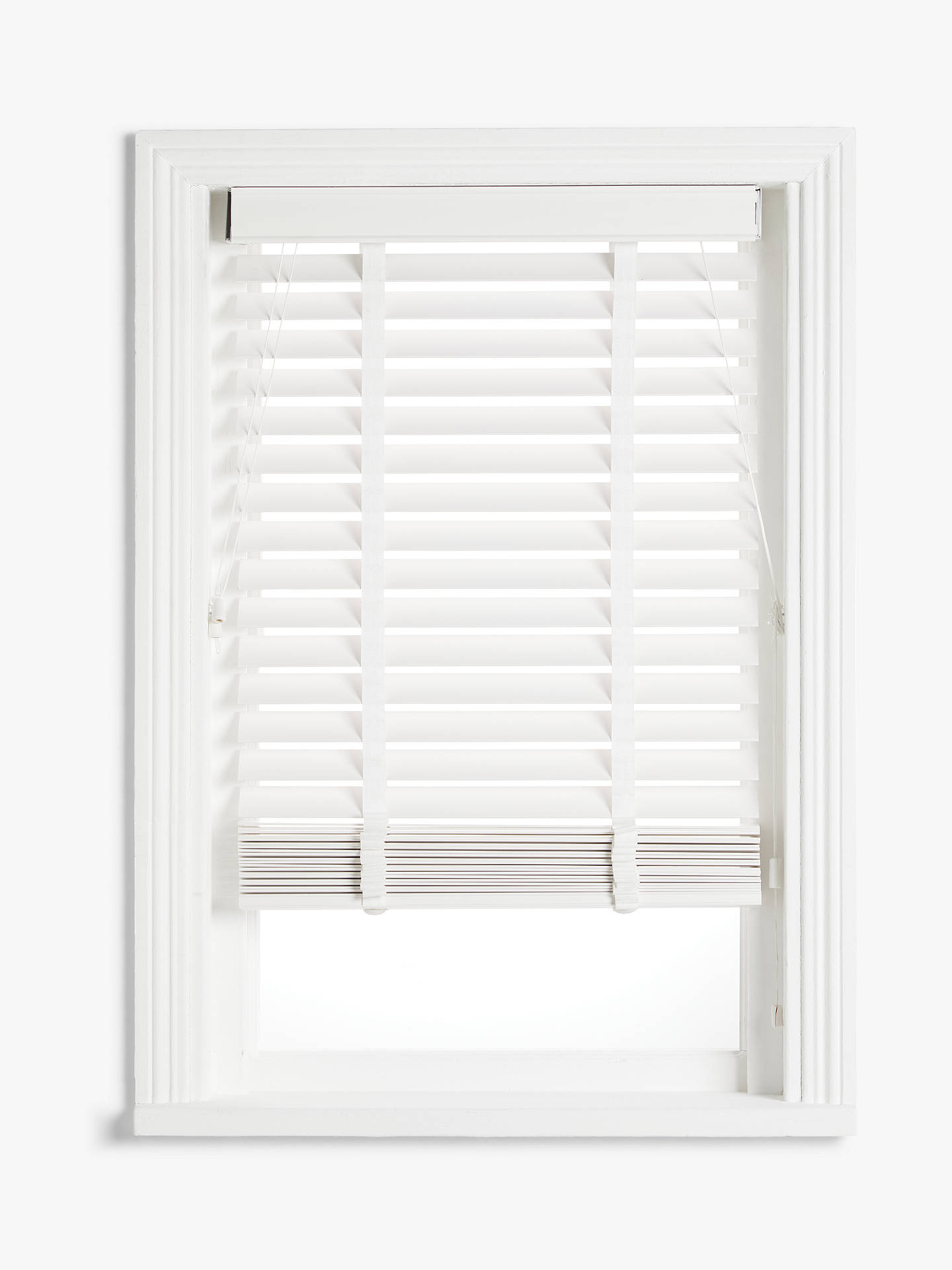 Buy John Lewis & Partners Wood Venetian Blind, FSC-Certified (Paulownia), 50mm Slats, White, W60 x Drop 160cm Online at johnlewis.com