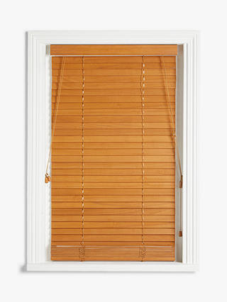Buy John Lewis & Partners Wood Venetian Blind, FSC-Certified (Paulownia), 35mm Slats, Oak, W120 x Drop 160cm Online at johnlewis.com
