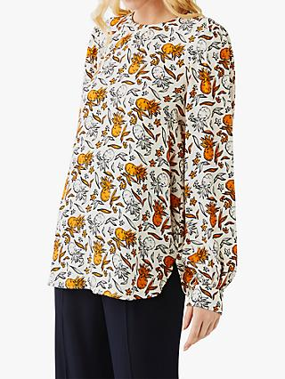 Ghost Clarisse Tropical Graphic Blouse, Sketch Pineapple