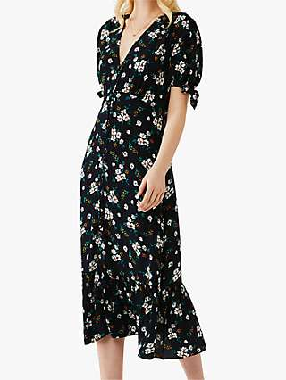 Ghost Maddy Floral Midi Dress, Paloma Bouquet Navy