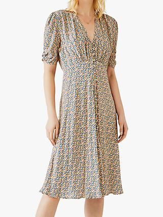Ghost Sabrina Ditsy Print Dress, Multi