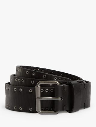 AllSaints Dawson Leather Belt, Black