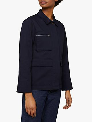 Jigsaw Cotton Drill Jacket, French Navy