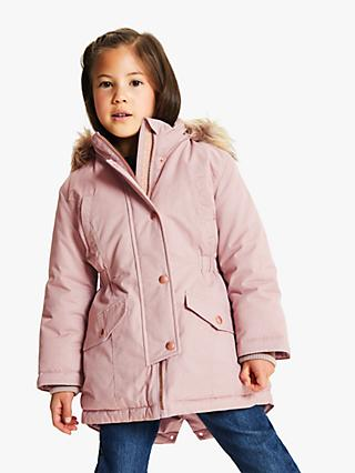 Mini Boden Girls' Duffle Coat, Fuchsia at John Lewis & Partners