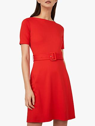 Warehouse Belted Ponte Dress