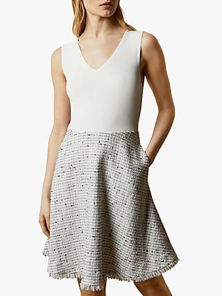 Ted Baker Adalad Tailored Dress, Ivory