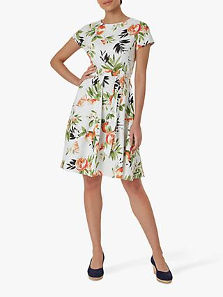 Hobbs Sorrento Fruit Print Linen Mini Dress