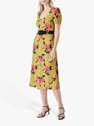 Finery Cordelia Floral Print Midi Dress, Multi