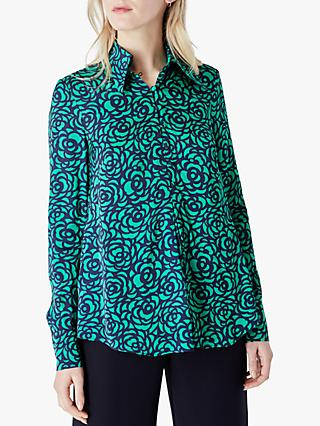Finery Sulina Abstract Print Blouse, Green