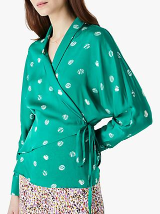 Finery Landyn Spotted Top, Green