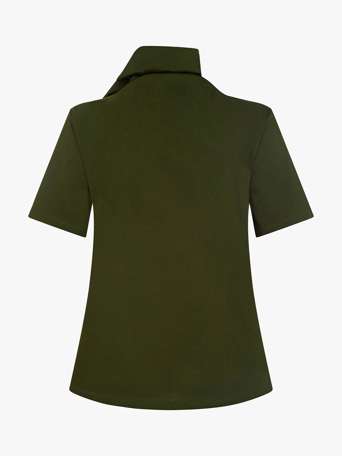 Buy Finery Cyrus Tie Neck Top, Green, 8 Online at johnlewis.com