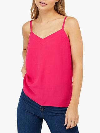Monsoon Elma Button Detail Cami, Pink