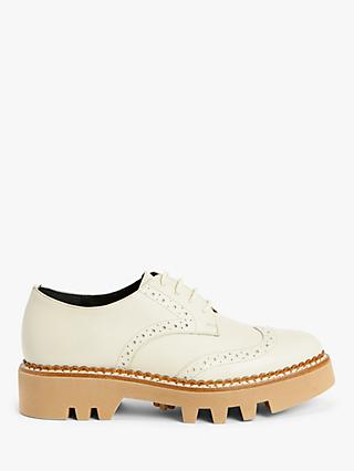 Kin Faye Cleated Sole Brogue Shoes, Off White