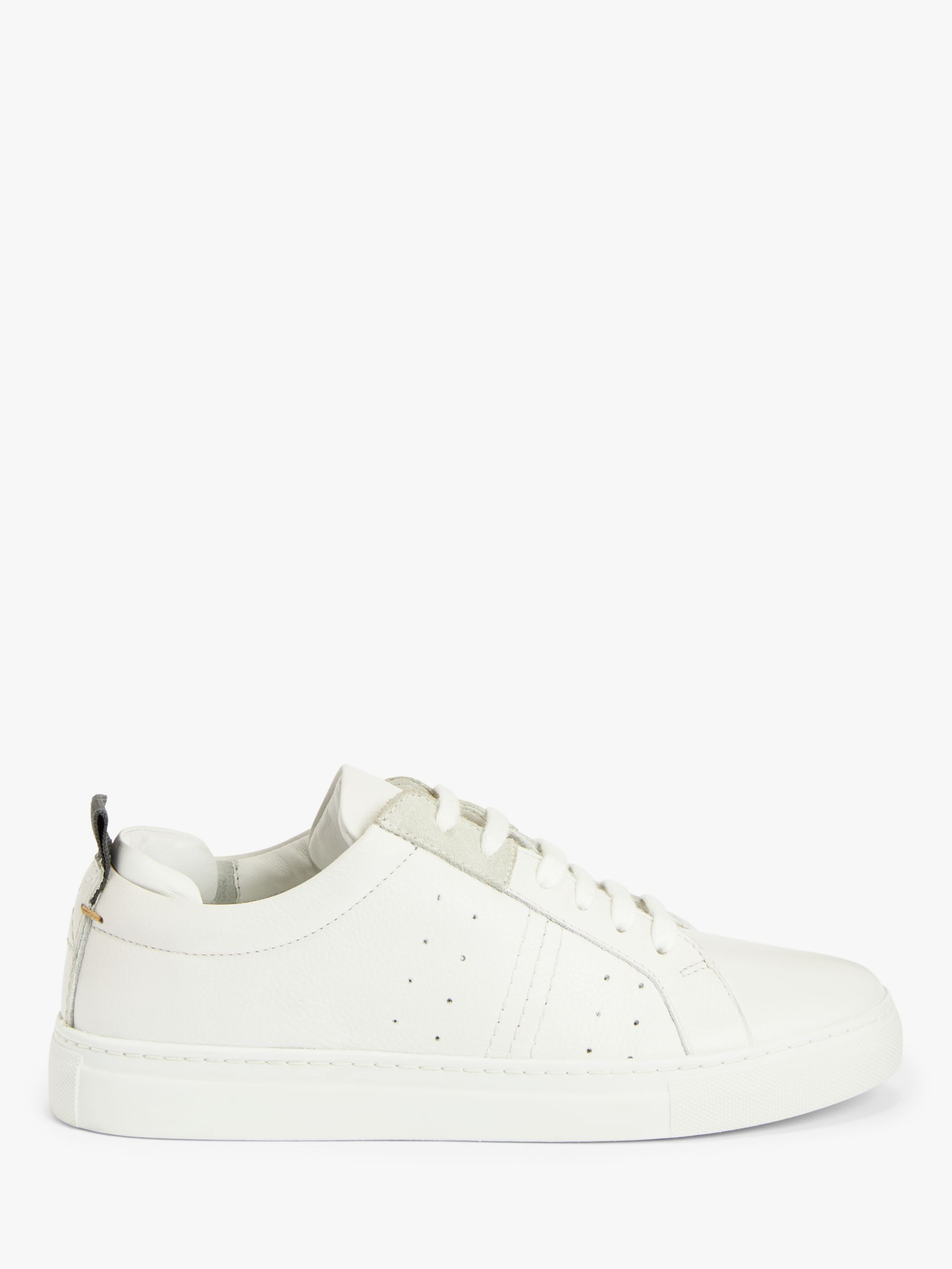 Kin Everett Leather Cupsole Trainers, White
