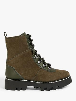 Kin Patriot Leather Biker Boots
