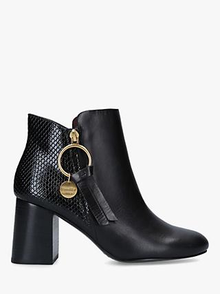 See By Chloé Leather Howl Ankle Boots, Black