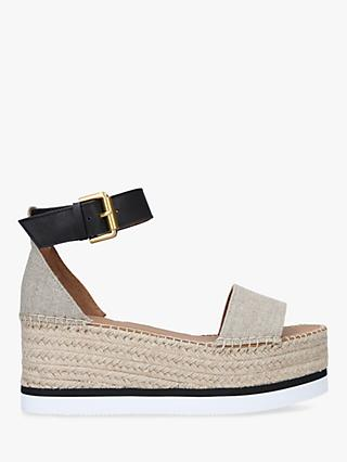 See By Chloé Polly Wedge Espadrilles, Beige