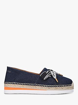 See By Chloé Leather Flat Bow Espadrilles