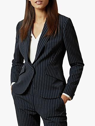 Ted Baker Angila Suit Pinstripe Jacket, Dark Blue