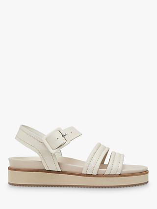 Whistles Koby Leather Contrast Stitch Sandals