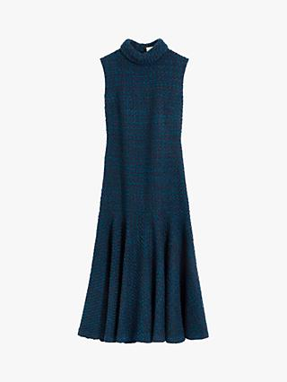 Mulberry Lexi Winter Boucle Dress, Imperial Blue