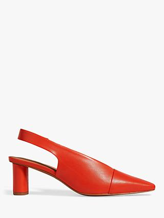 Jigsaw Collette Leather Heeled Slingback Court Shoes