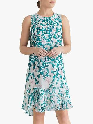 Fenn Wright Manson Petite Juliette Floral Print Mini Dress, Botanical Leaf