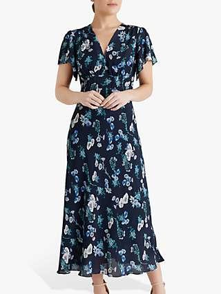 Fenn Wright Manson Petite Emilie Floral Print Maxi Dress, Poppy Print