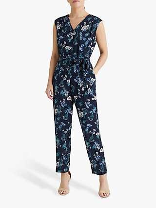 Fenn Wright Manson Petite Emilie Floral Print Jumpsuit, Poppy