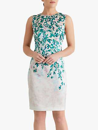 Fenn Wright Manson Petite Virginie Floral Print Midi Dress, Botanical Leaf